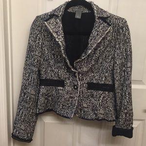 Ann Taylor black/white blazer
